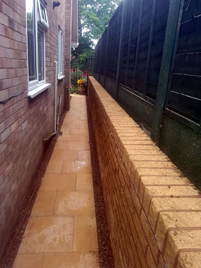 pathway after cleaning