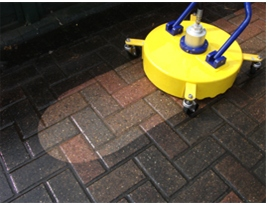 Rotary pressure washer for driveway cleaning
