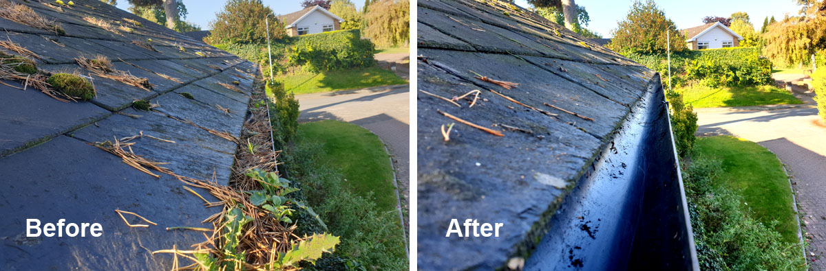 Gutter cleaning in Worcester
